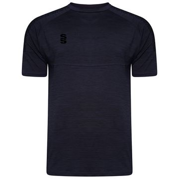 Picture of Dual Gym T-Shirt- Navy Melange/Black