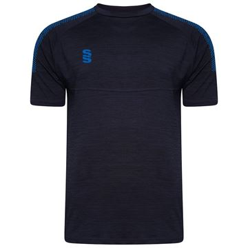 Picture of Dual Gym T-Shirt- Navy Melange/Royal
