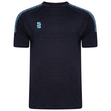 Picture of Dual Gym T-Shirt- Navy Melange/Sky