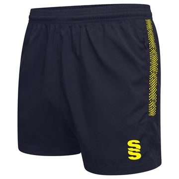 Picture of Performance Gym Short - Navy/Yellow