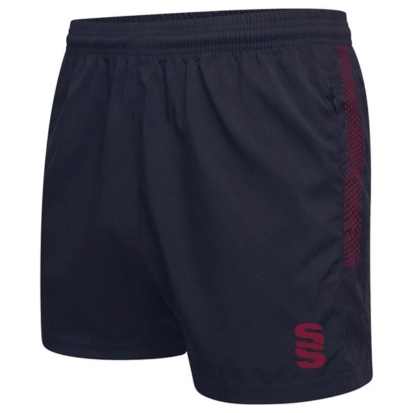 Picture of Performance Gym Short - Navy/Maroon