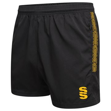 Afbeeldingen van Performance Gym Short - Black/Amber