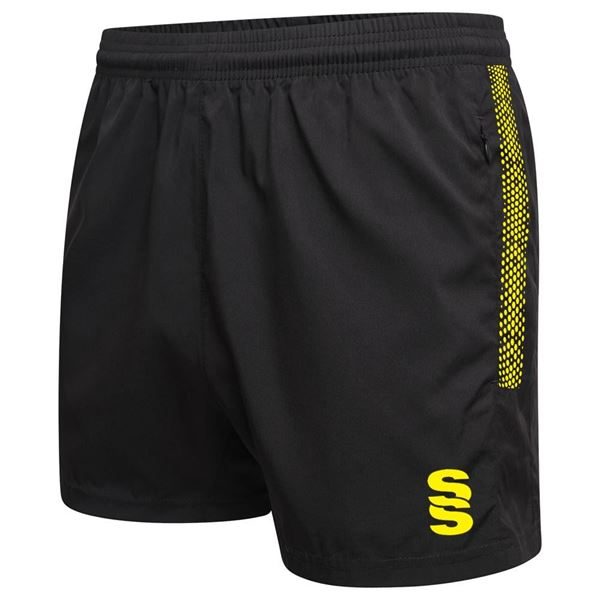 Picture of Performance Gym Short - Black/Yellow