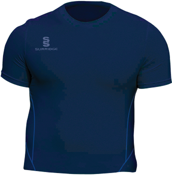Image de Papplewick & Linby CC Navy S/S Baselayer