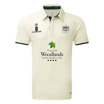 Imagen de Limerick Cricket Club Ergo Short Sleeve Green Trim Shirt