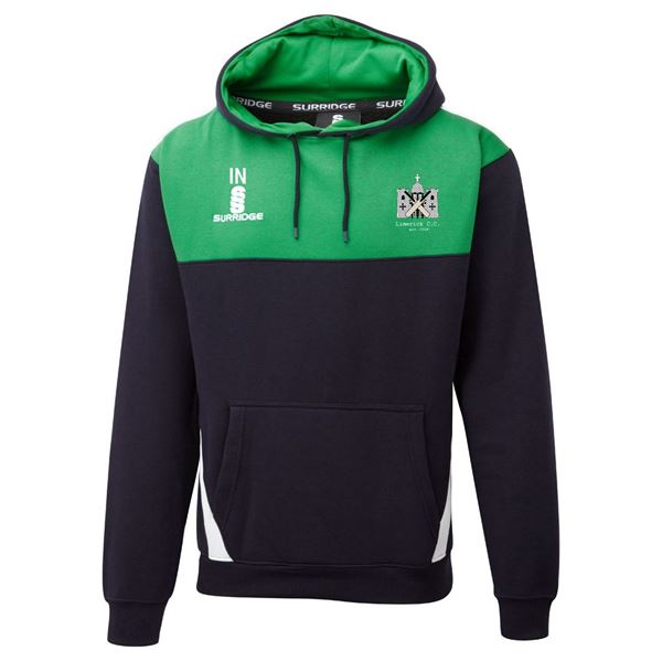 Image sur Limerick Cricket Club Blade Hoody Navy/Emerald/White