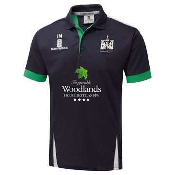 Picture of Limerick Cricket Club T20 Blade Polo Navy/Emerald/White