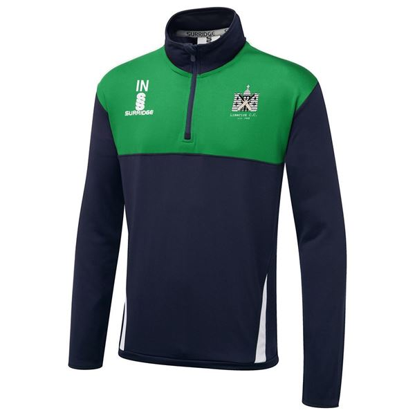 Imagen de Limerick Cricket Club Blade Performance Top Navy/Emerald/White