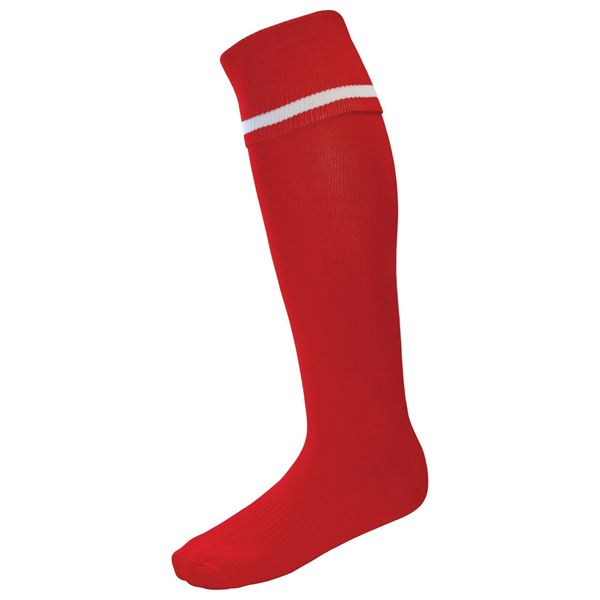 Afbeelding van Single Band Sock - Red/White