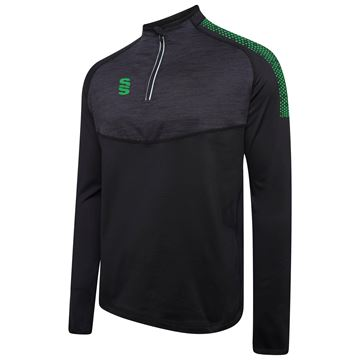 Image de 1/4 Zip Dual Performance Top - Black/Emerald