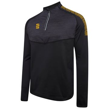 Picture of 1/4 Zip Dual Performance Top - Black/Amber