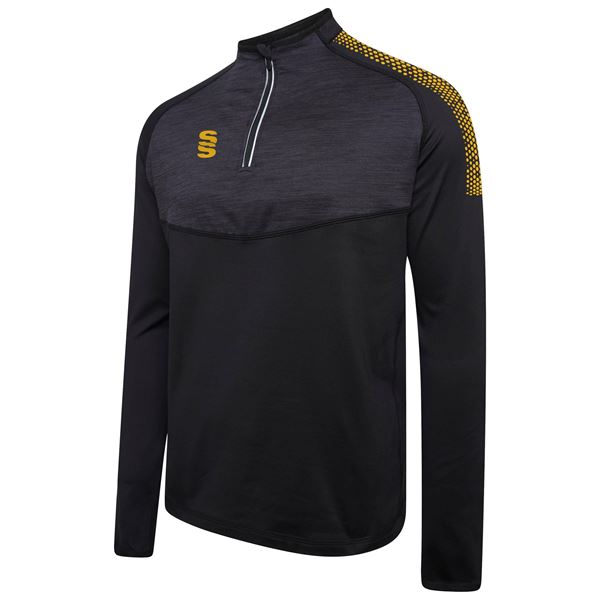 Bild von 1/4 Zip Dual Performance Top - Black/Amber