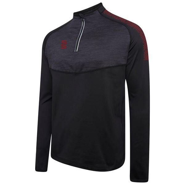 Afbeelding van 1/4 Zip Dual Performance Top - Black/Maroon