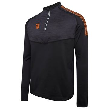 Image de 1/4 Zip Dual Performance Top - Black/Orange