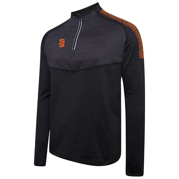 Afbeelding van 1/4 Zip Dual Performance Top - Black/Orange