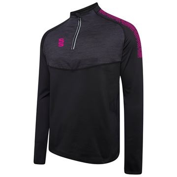 Image de 1/4 Zip Dual Performance Top - Black/PInk