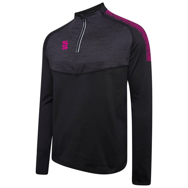 Bild von 1/4 Zip Dual Performance Top - Black/PInk