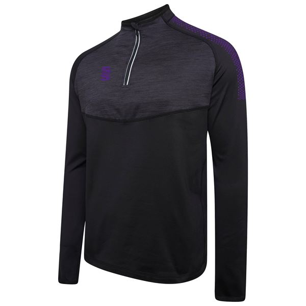 Afbeelding van 1/4 Zip Dual Performance Top - Black/Purple