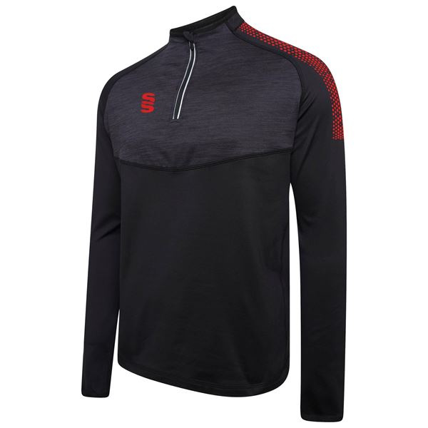 Picture of 1/4 Zip Dual Performance Top - Black/Red