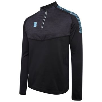 Picture of 1/4 Zip Dual Performance Top - Black/Sky