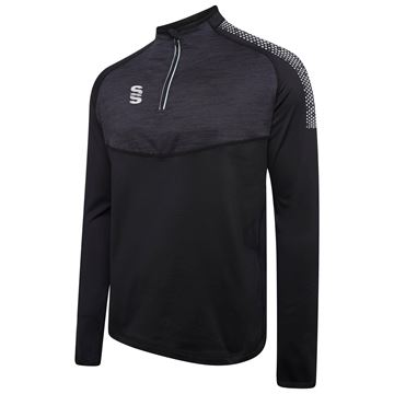 Picture of 1/4 Zip Dual Performance Top - Black/Silver