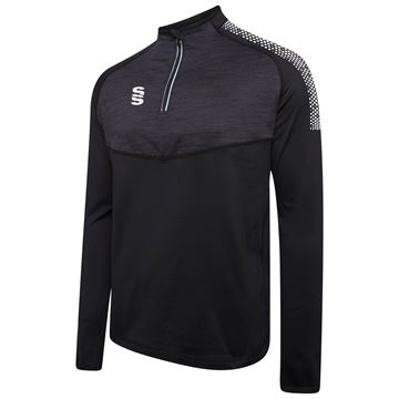 Afbeeldingen van 1/4 Zip Dual Performance Top - Black/White