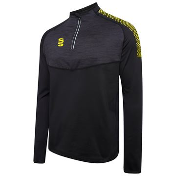 Picture of 1/4 Zip Dual Performance Top - Black/Yellow