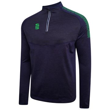 Picture of 1/4 Zip Dual Performance Top - Navy/Emerald