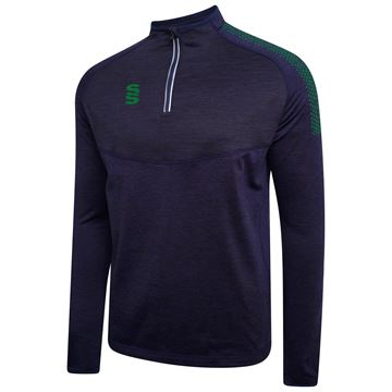 Picture of 1/4 Zip Dual Performance Top - Navy/Bottle