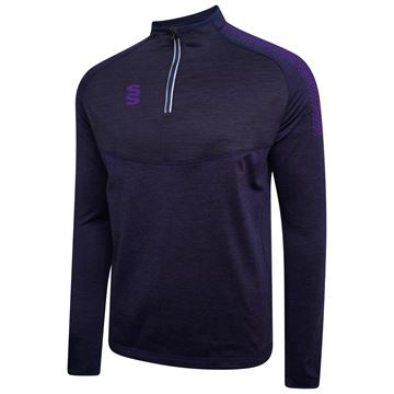 Bild von 1/4 Zip Dual Performance Top - Navy/Purple