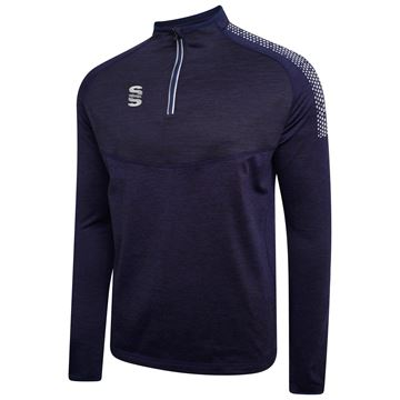 Picture of 1/4 Zip Dual Performance Top - Navy/Silver
