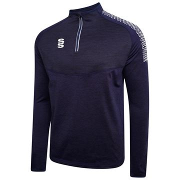Image de 1/4 Zip Dual Performance Top - Navy/White