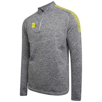 Picture of 1/4 Zip Dual Performance Top - Silver Marl/Yellow