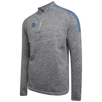 Afbeeldingen van 1/4 Zip Dual Performance Top - Silver Marl/Royal