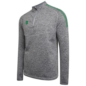 Afbeeldingen van 1/4 Zip Dual Performance Top - Silver Marl/Bottle