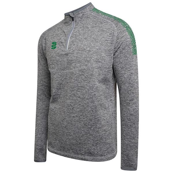 Picture of 1/4 Zip Dual Performance Top - Silver Marl/Bottle