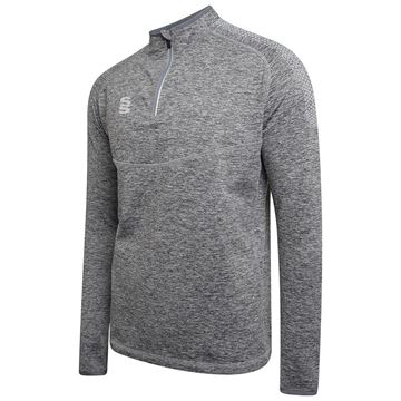 Picture of 1/4 Zip Dual Performance Top - Silver Marl/Grey