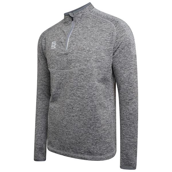 Image sur 1/4 Zip Dual Performance Top - Silver Marl/Grey