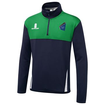 Picture of The Link Academy Dudley Blade Performance Top Navy/Emerald/White