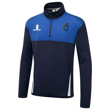 Picture of St James Academy Dudley  Blade Performance Top Navy/Royal/White