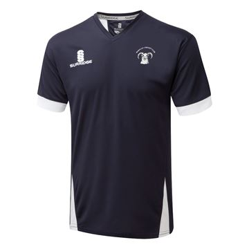 Picture of Shepley Cricket Club Blade T-shirt Navy/White