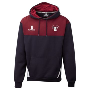 Picture of Shepley Cricket Club Blade Hoody Navy/Maroon/White