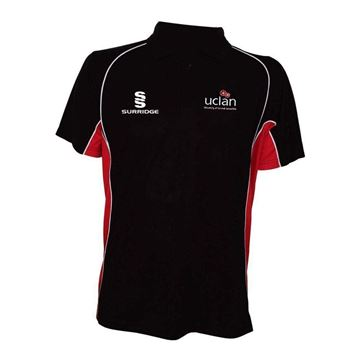 Picture of UCLAN POLO SHIRT BLACK/RED