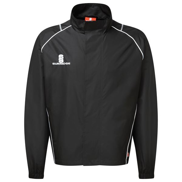 Bild von Curve Full Zip Rain Jacket - Black