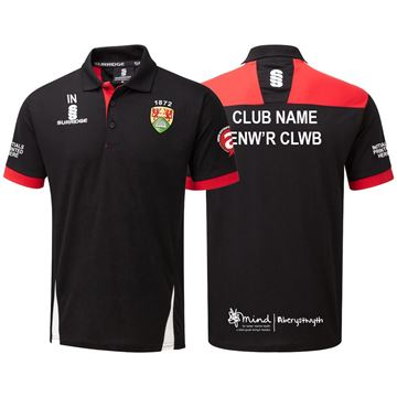 Picture of Aberystwyth University Blade Polo Black/Red/White