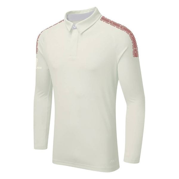 Bild von DUAL LONG SLEEVE CRICKET SHIRT - Maroon