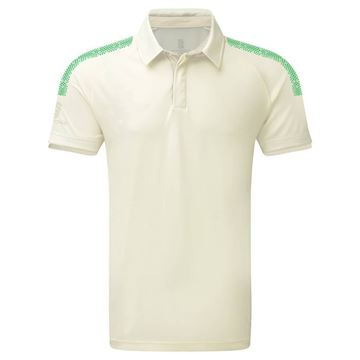 Bild von Dual Cricket Shirt - Short Sleeve : Emerald Trim