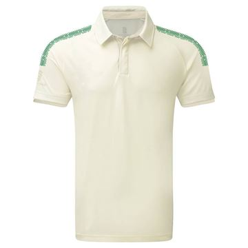Picture of Dual Cricket Shirt - Short Sleeve : Forest Trim