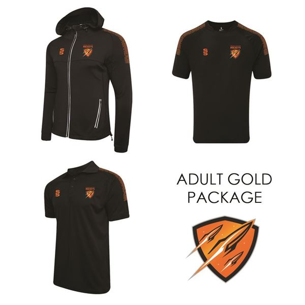 Image sur CRAMLINGTON ROCKETS RLFC SURRIDGE ADULT GOLD PACKAGE