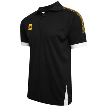 Picture of Blade / Dual Polo Shirt : Black / Amber / White